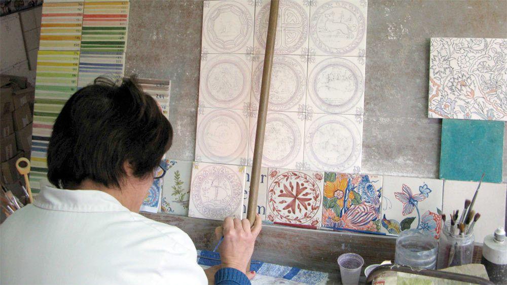 Visite privée d'une journée autour de l'azuléjo avec atelier et visite de m...