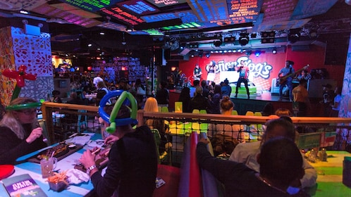 stage performers at the Senor Frogs in Las Vegas