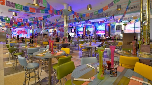 tables and seats at the Senor Frogs in Las Vegas