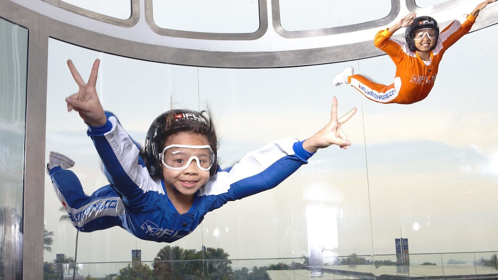 Show item 5 of 5. Kids at the iFly Singapore activity