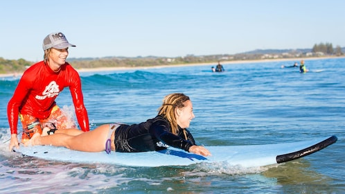 Woman on the Byron Bay Surf Lesson in Australia