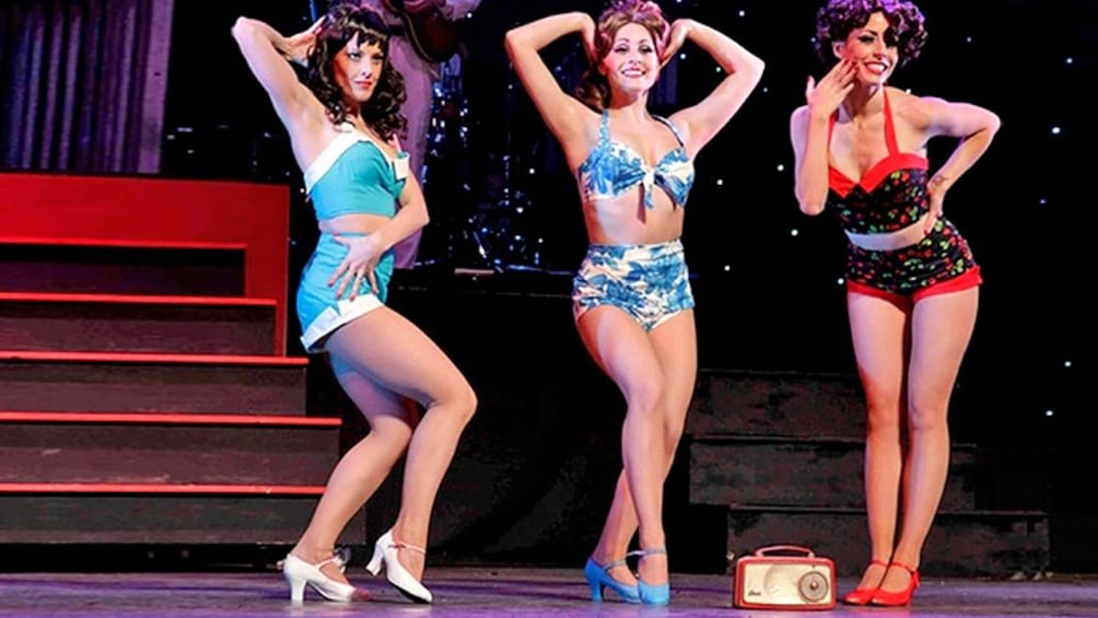 Show item 2 of 7. women in vintage style bikinis on stage in Missouri