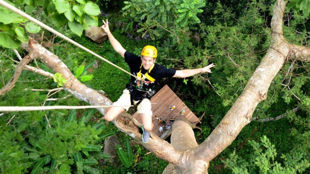 Show item 4 of 5. Man on the Flying Hanuman Course in Phuket