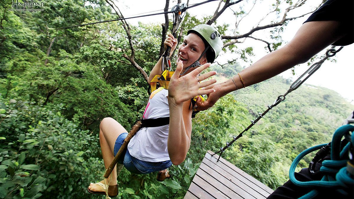 Flying Hanuman Zip lining Experience
