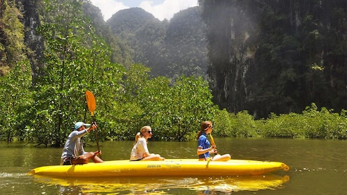 Group kayaking in Phuket