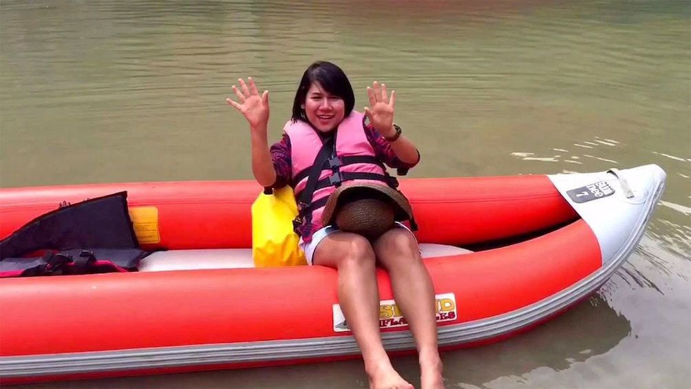 Show item 5 of 5. Woman on the boat tour of Phuket