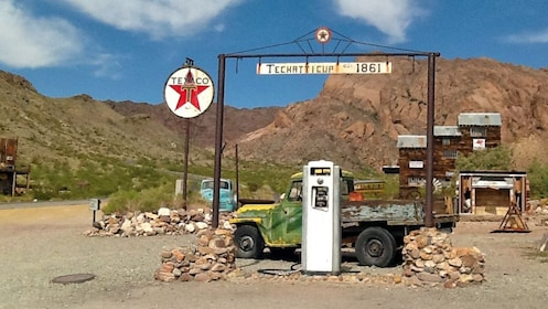 old gas station at a mining town in Las Vegas