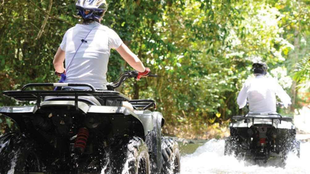 Close up of some guests on the  ATV Tours in Phang Nga