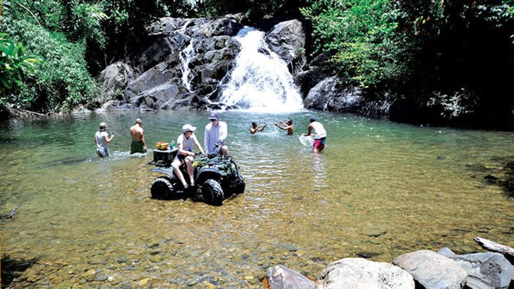 Waterfall seen on the  ATV Tours in Phang Nga