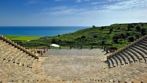 Amphitheater and view of the coast in Cyprus