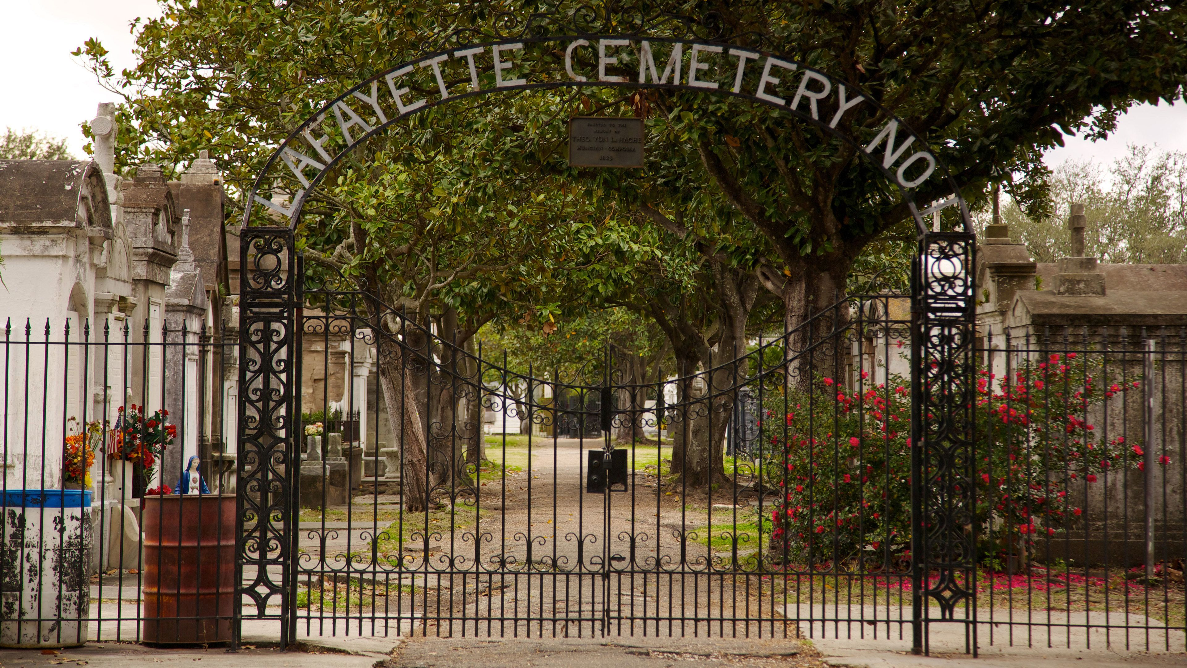 Entrance gate to Lafayette Cemetery No 1 in New Orleans