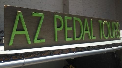 Sign for AZ Pedal Tours in Arizona