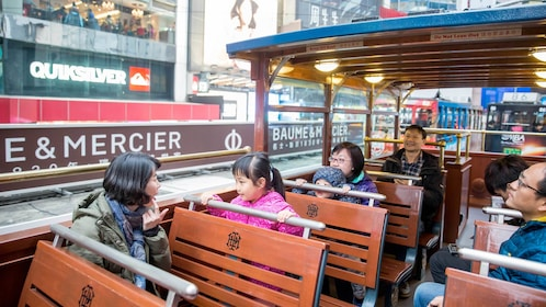 View of passengers aboard the 1-Hour TramOramic Tour in Hong Kong