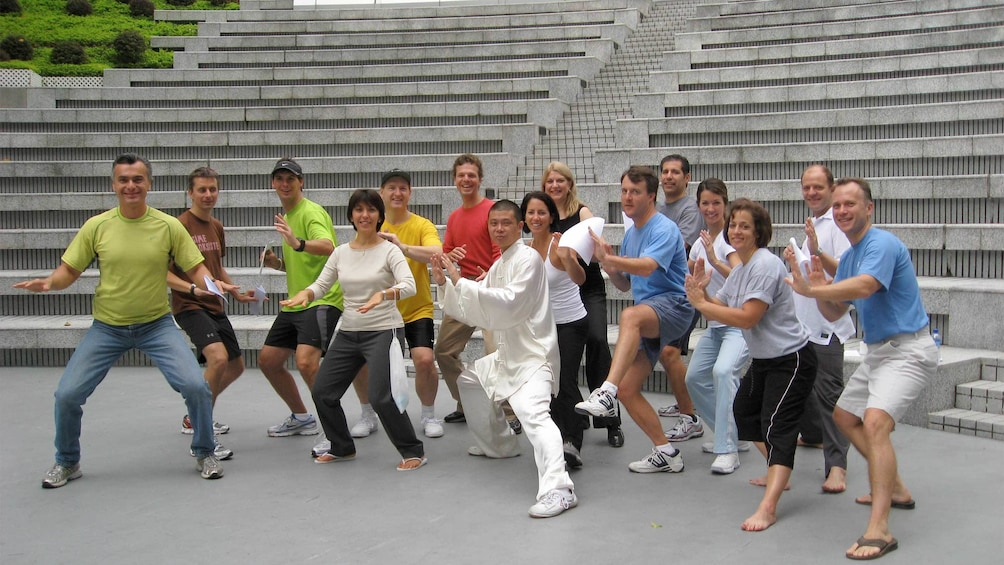 Group on the Chen Style Tai Chi Institute Of Hong Kong