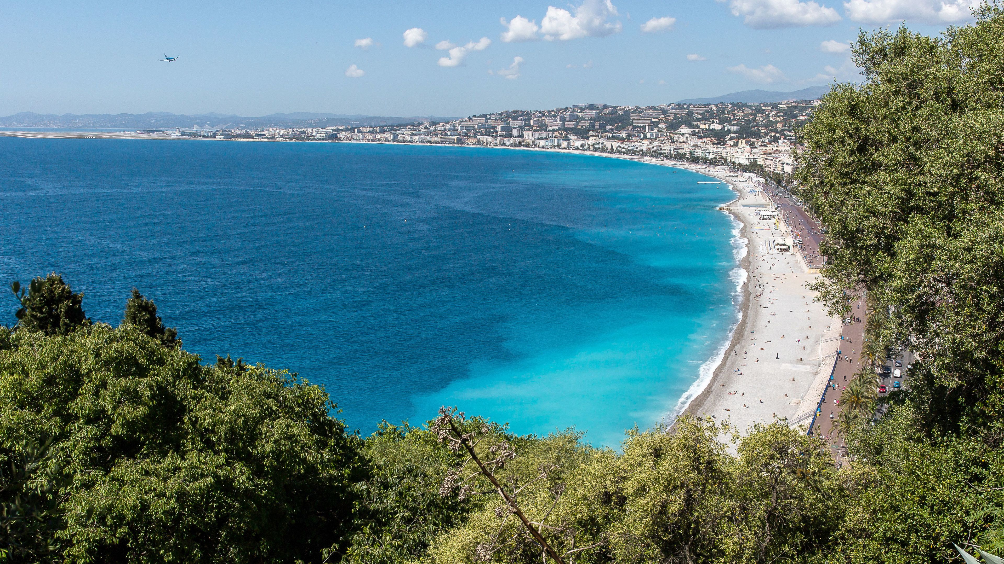 Panoramic view of the French Riviera