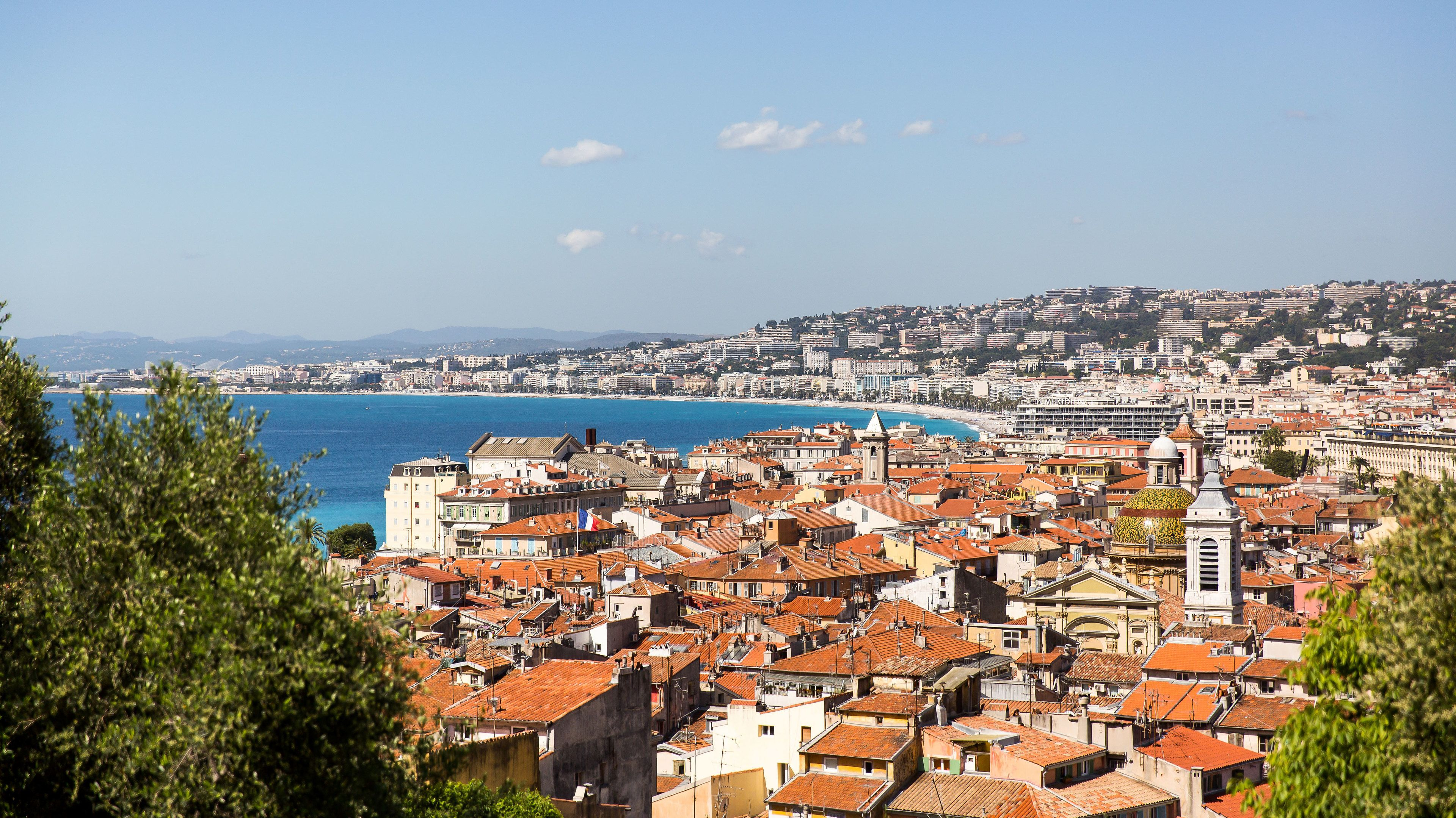 View of the rooftops of Nice in the French Riviera