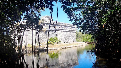 Mayan structure on water