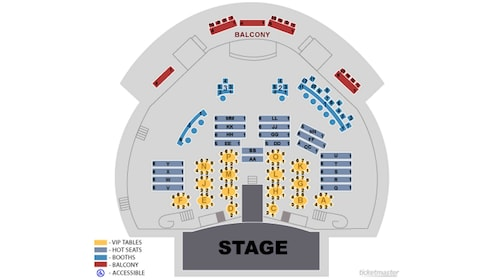 Seating chart for Chippendales in Las Vegas