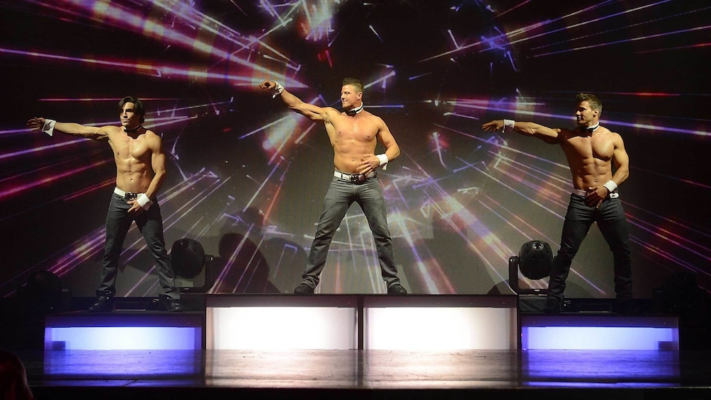 Show item 2 of 7. Shirtless Chippendale dancers in Las Vegas