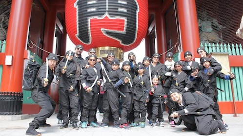 Group on the Asakusa Tour with Ninja Experience in Tokyo