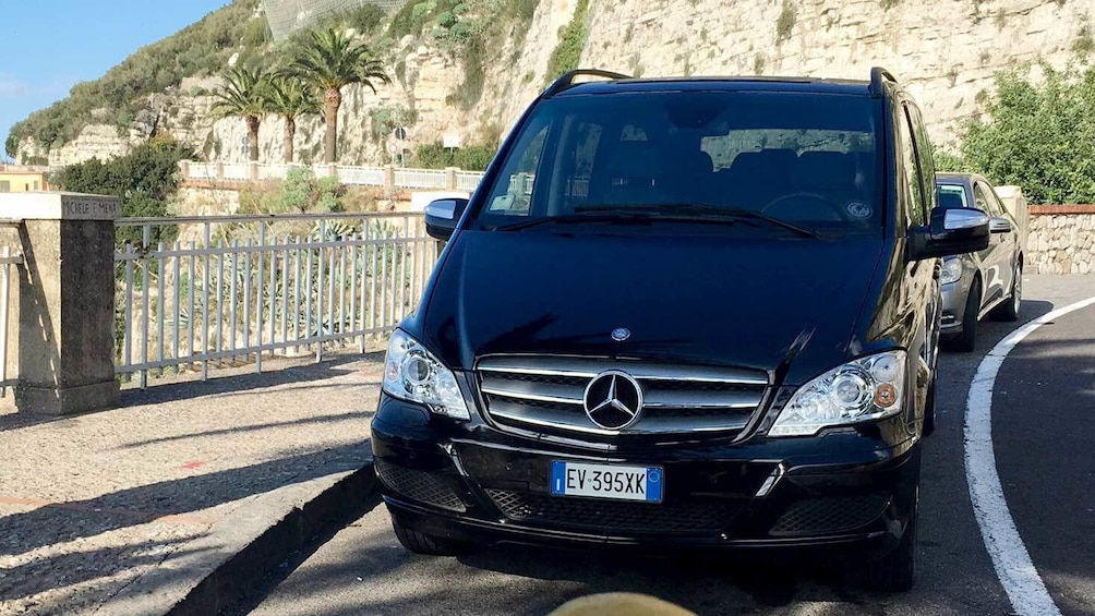 Van on the road in Sorrento