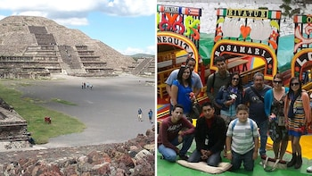 2-in-1 Combo: Teotihuacan Pyramids, Xochimilco Canals & Frida Kahlo Museum