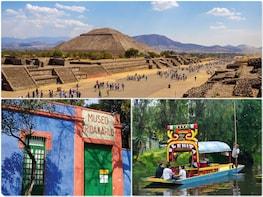 2x1:Teotihuacan, Guadalupe Shrine, Xochimilco & Frida Kahlo