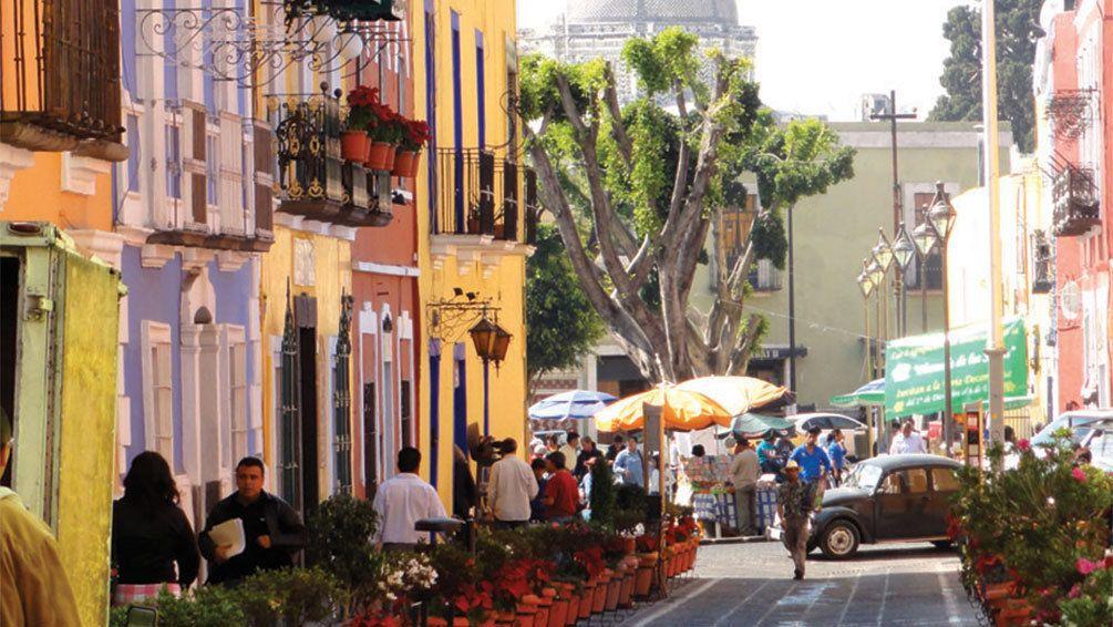 Vibrant street view of Mexico City