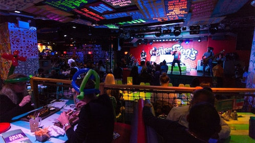 Guests and stage at Senor Frog's Drag Brunch Miami
