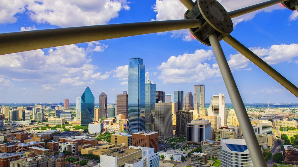 looking out from an observation deck in Dallas