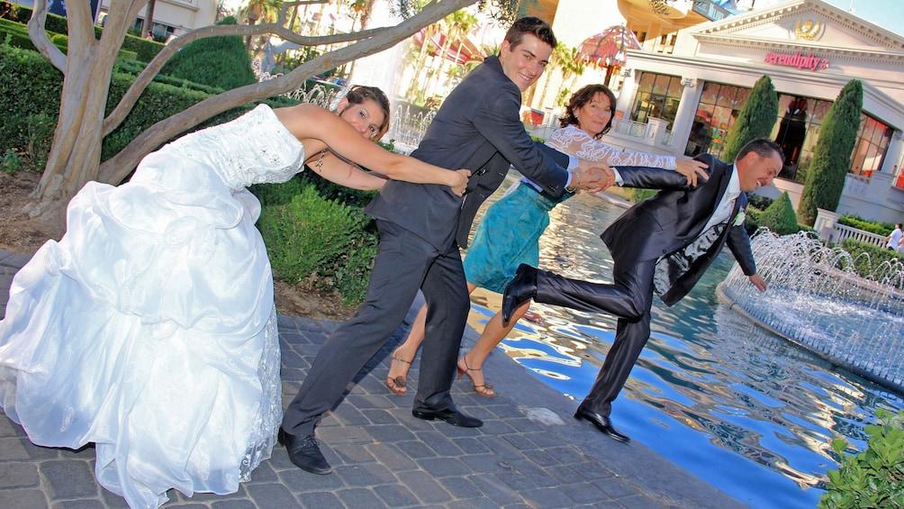 Show item 4 of 5. las vegas wedding scene