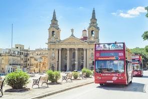 Kustexcursie: hop-on, hop-off-bustour door Malta