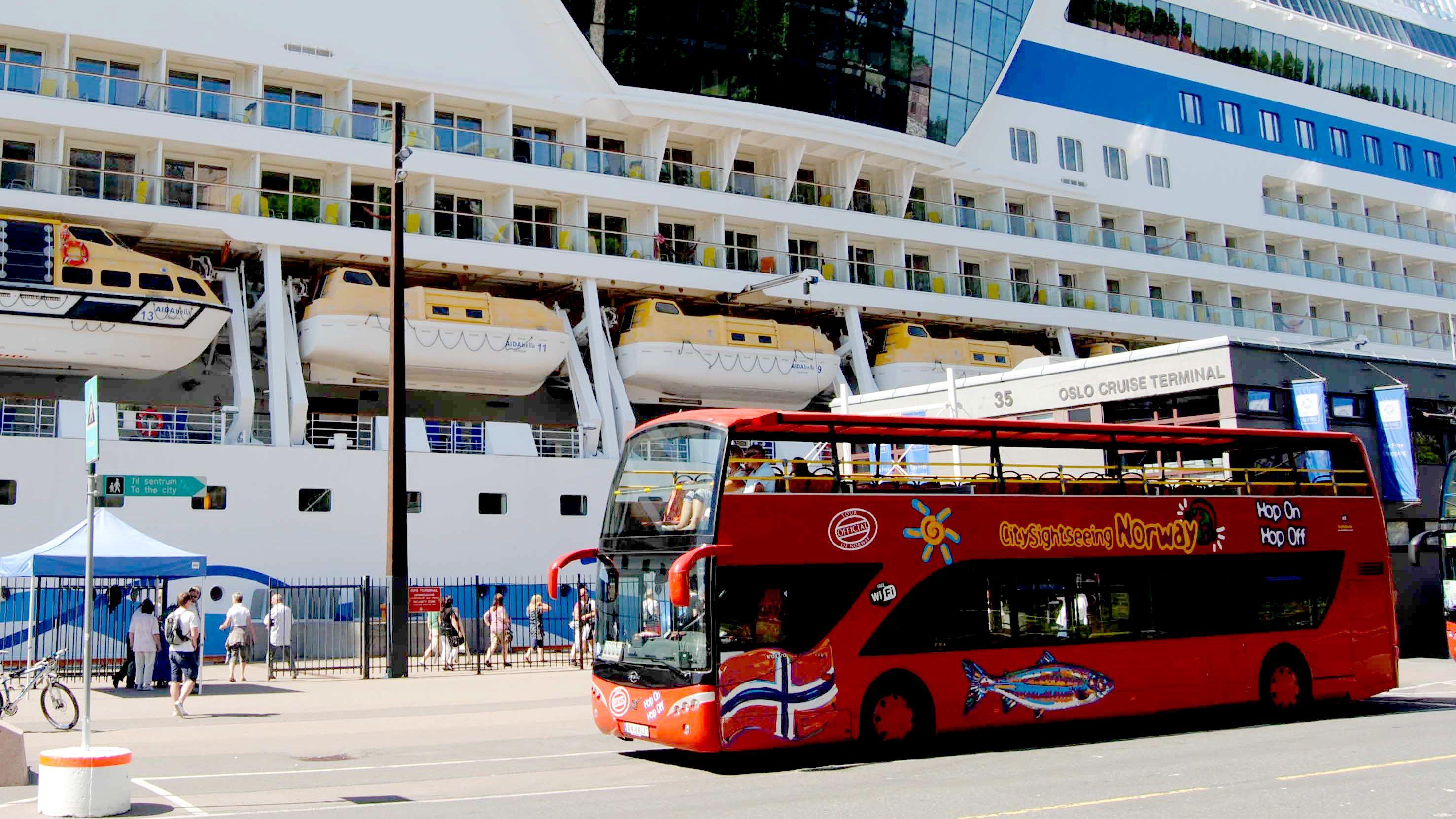 Havneutflukt: Tur med sightseeingbuss i Oslo
