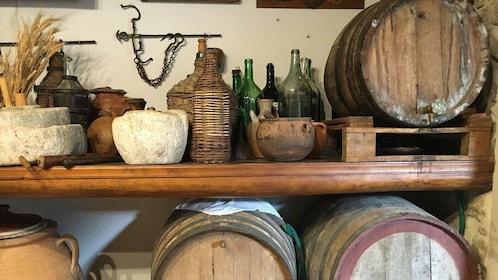 Old-fashioned food storage in a shop in Heraklion