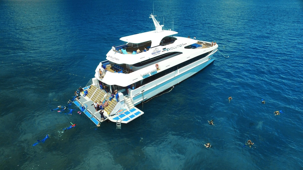 Show item 8 of 8. Full-Day Outer Great Barrier Reef Cruise & Snorkeling Tour