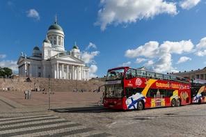 Bussbiljett med hop-on/hop-off i Helsingfors