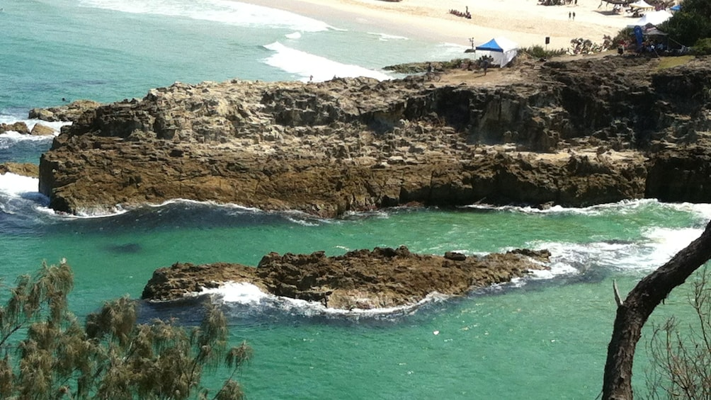 Show item 2 of 5. Rocky coast in Queensland