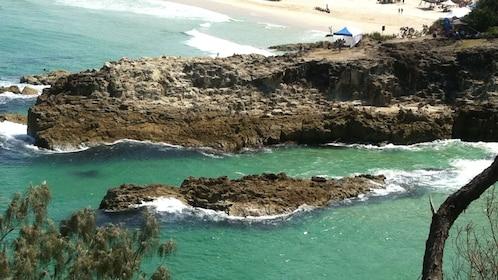 Rocky coast in Queensland