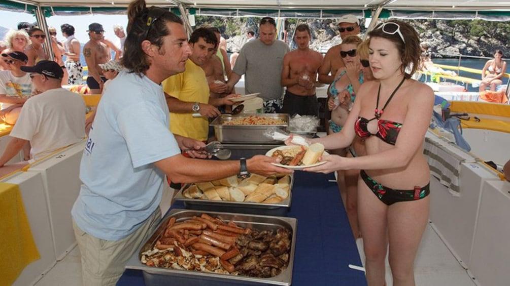 Lunch Buffet on a Catamaran
