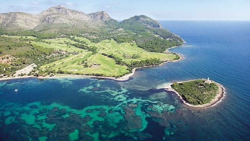 Aerial view of the coast of Majorca