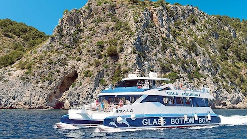 Cruise boat on the coast of Majorca
