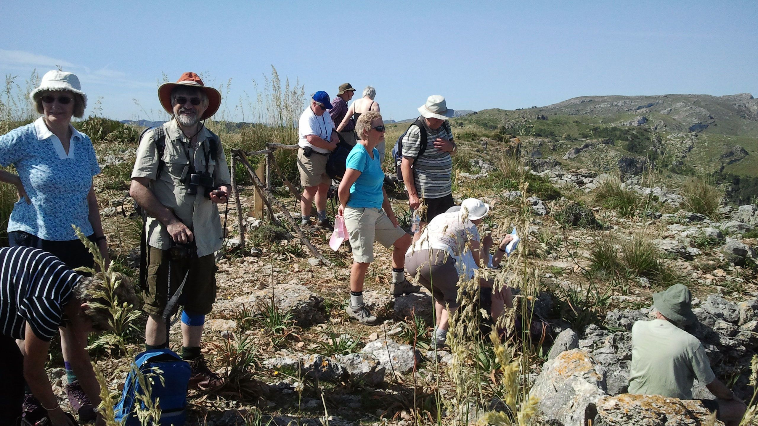 Hiking group at Llevant National Park on Mallorca Island
