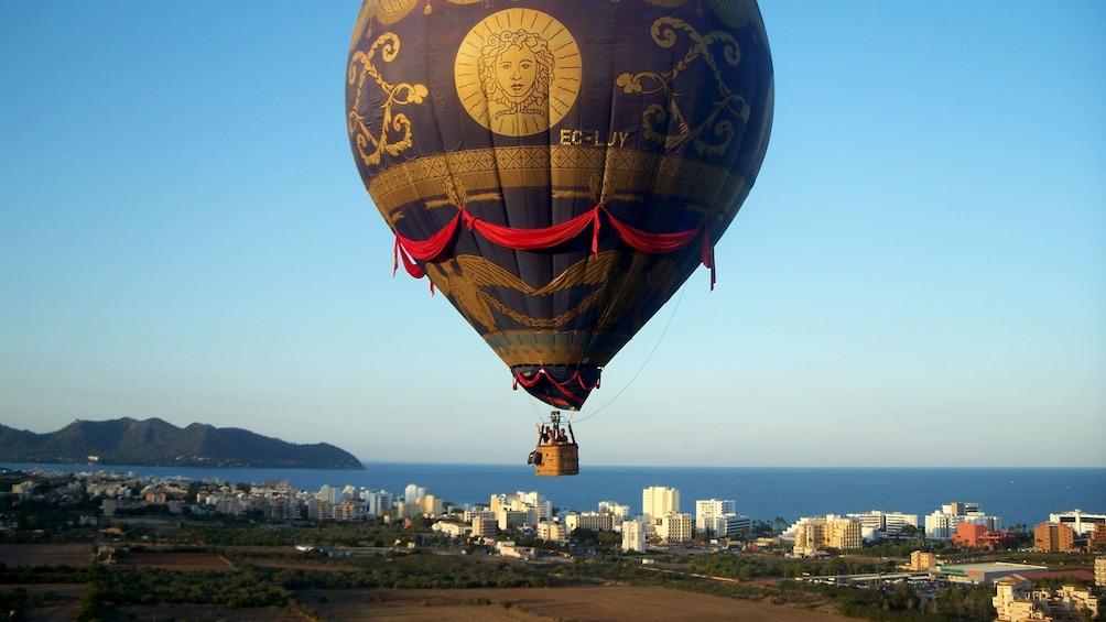 Hot air balloon over Mallorca Island
