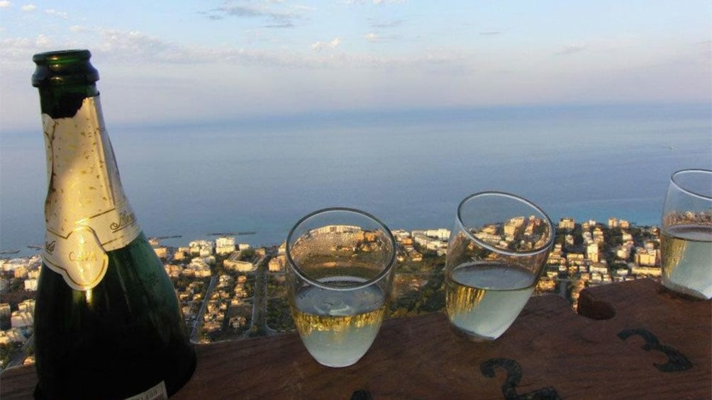 Show item 2 of 5. Champagne in a hot air balloon over Mallorca Island