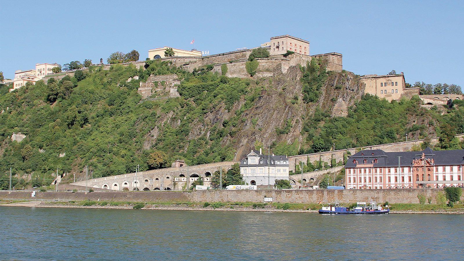 Ehrenbreitstein Fortress in Germany