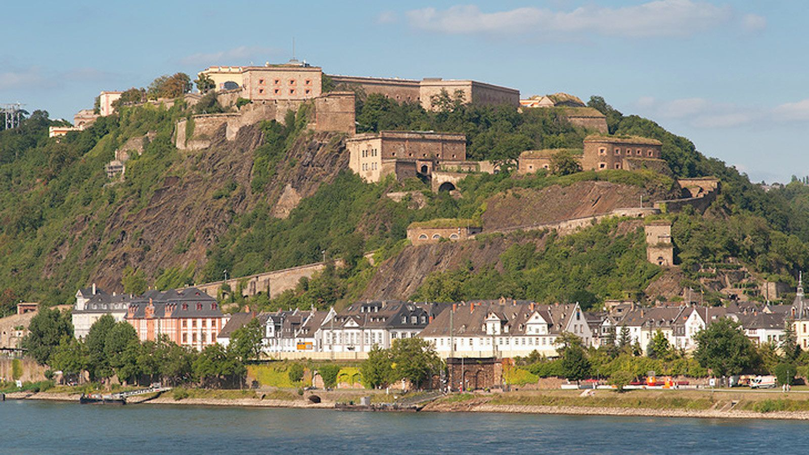 Day view of the Ehrenbreitstein Fortress in Germany