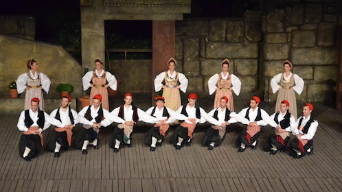 Dancers onstage in Athens