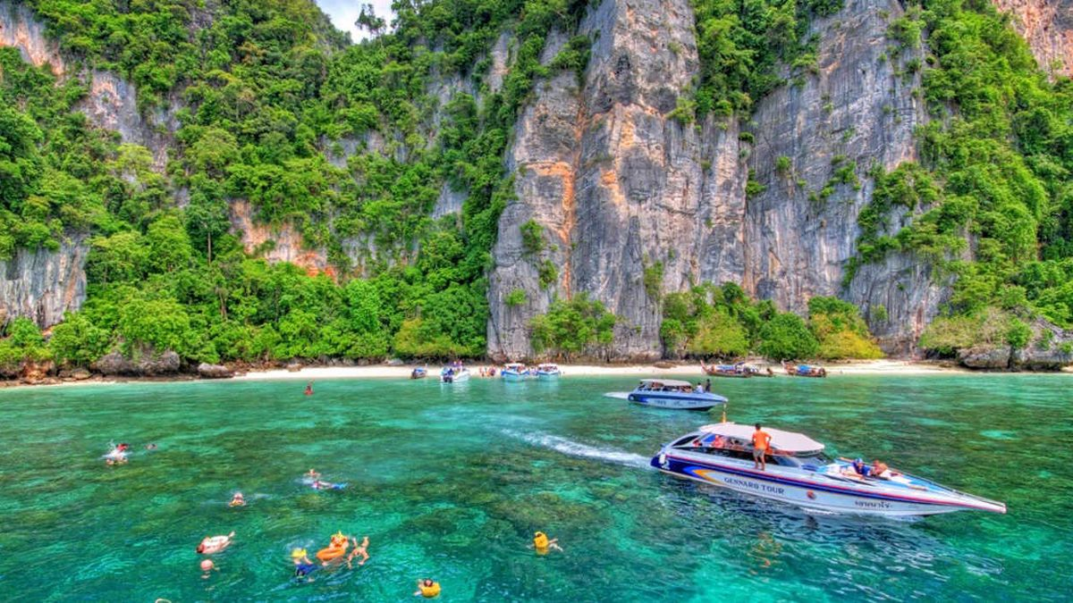 Half-Day Phi Phi Island Speedboat with National Park Fees
