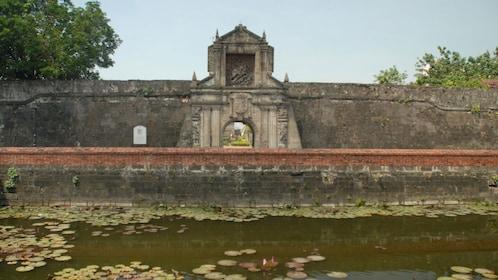 Stone wall in Manila