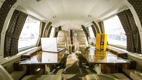 Inside of a Private Jet